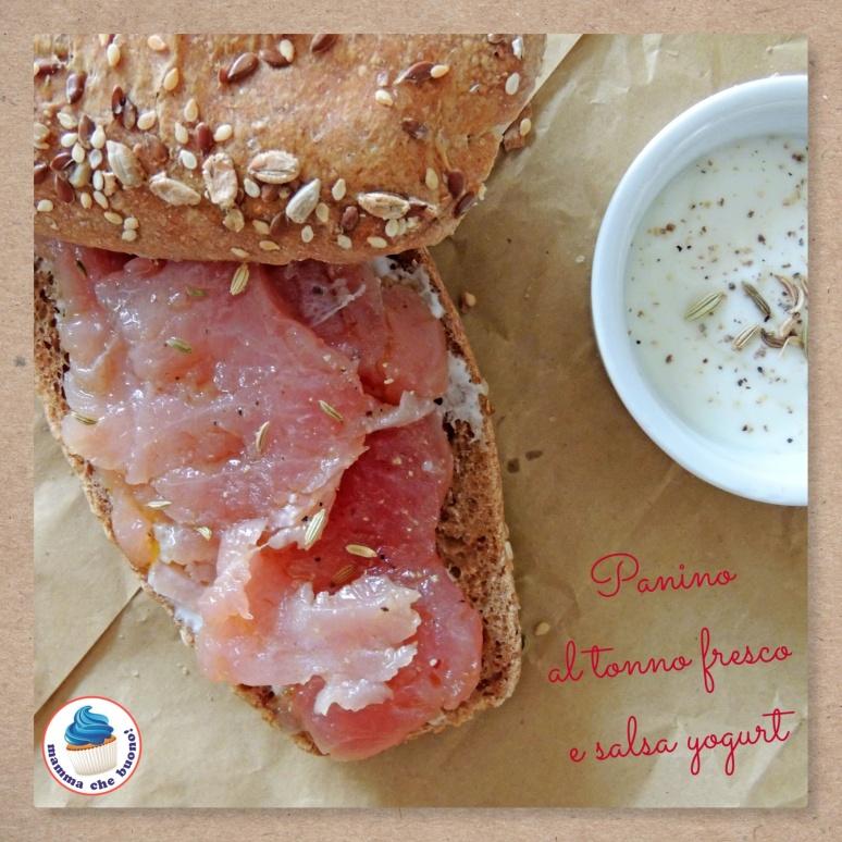 panino al tonno fresco e salsa yogurt