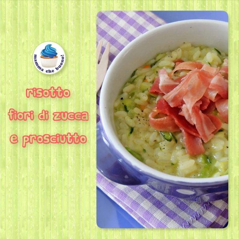 risotto fiori di zucca e prosciutto