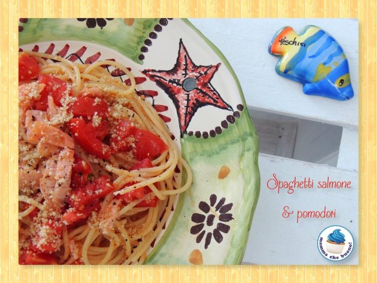 spaghetti salmone e pomodori 2