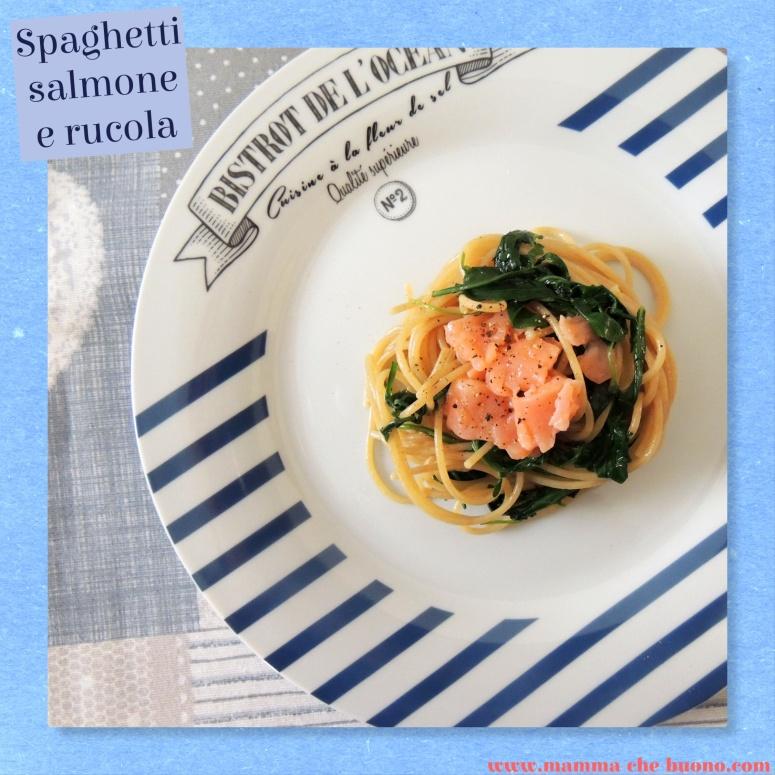 spaghetti salmone e rucola1