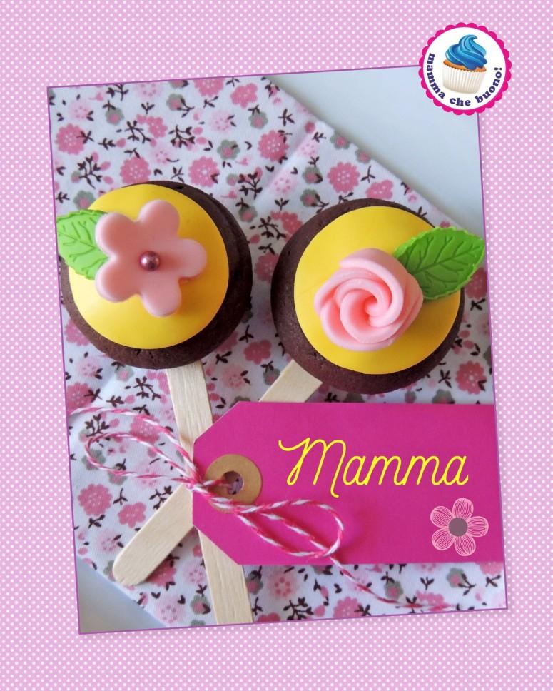 tortini al cacao su stecco mamma