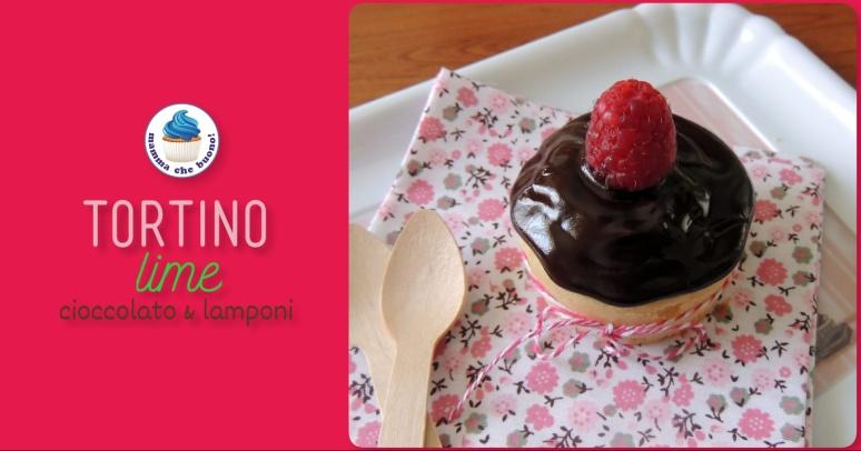 tortino lime cioccolato e lamponi