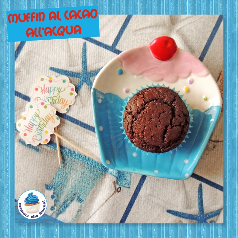 muffin al cacao all'acqua ok