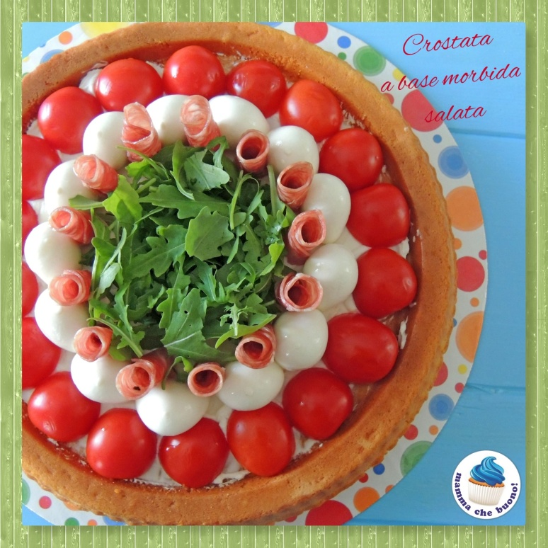crostata a base morbida salata