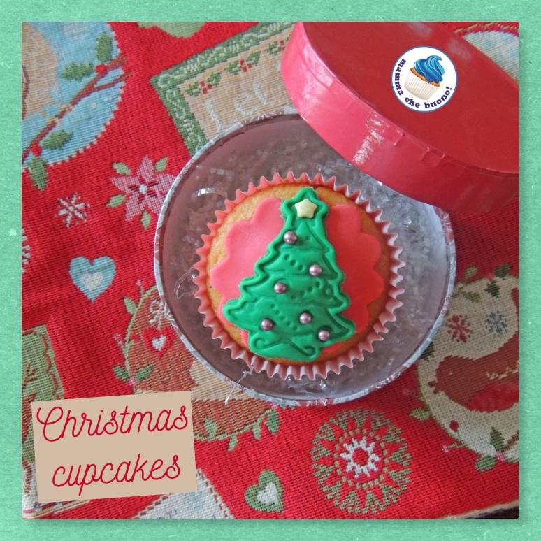 christamas cupcake alberello