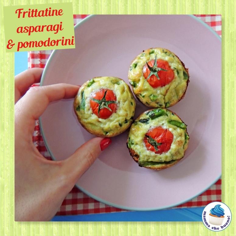 frittatine asparagi e pomodorini