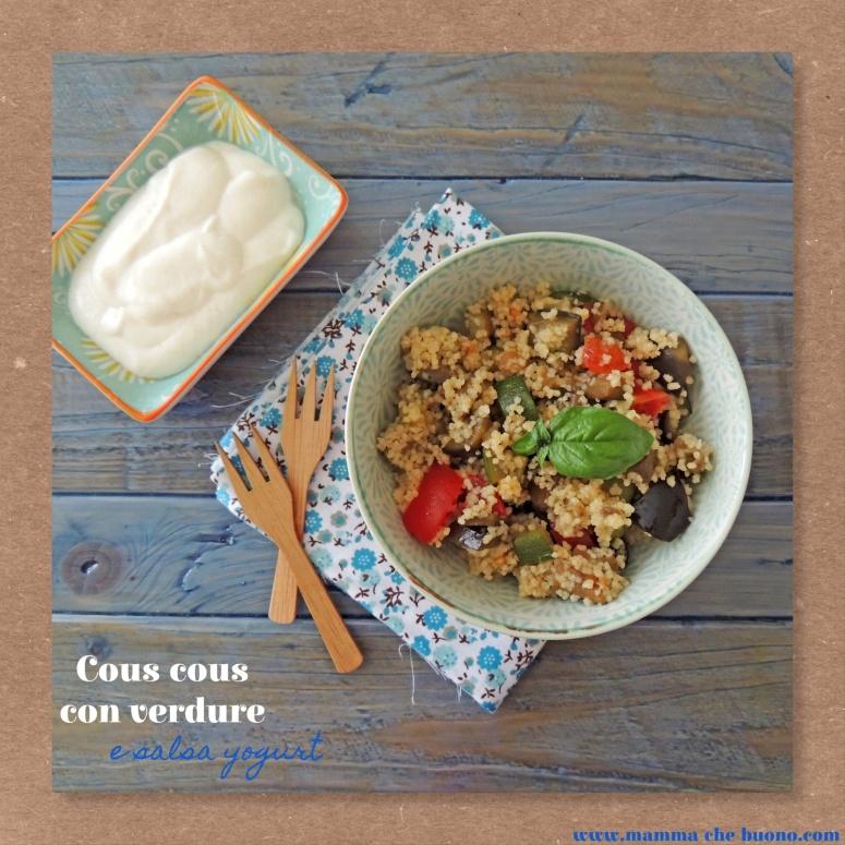 cous cous con verdure e salsa yogurt