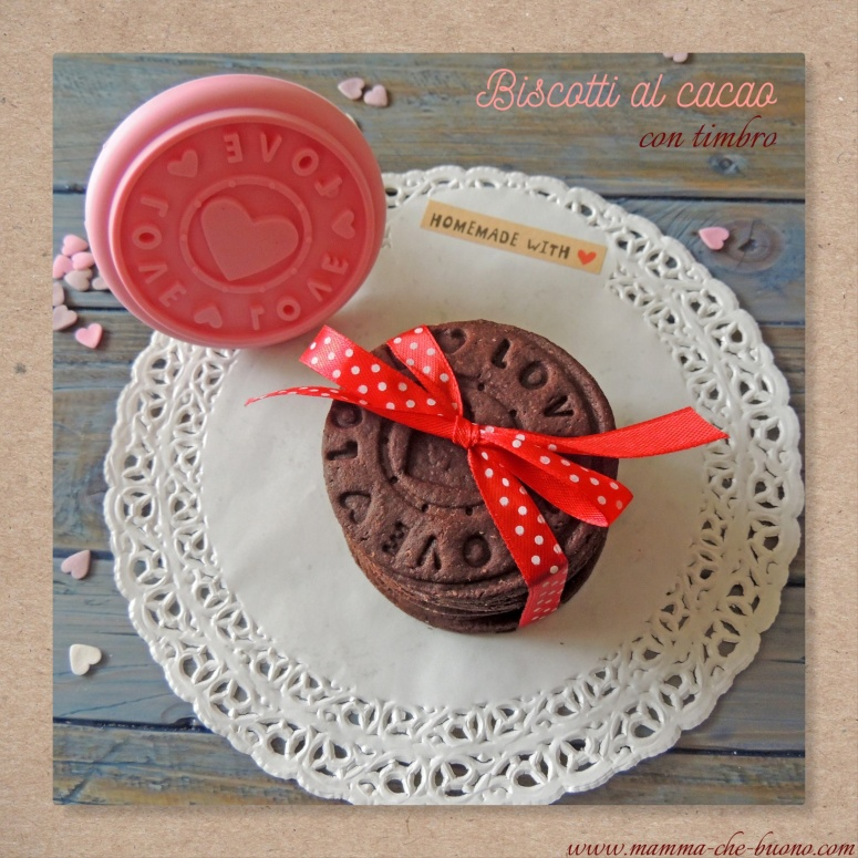 biscotti al cacao con timbro