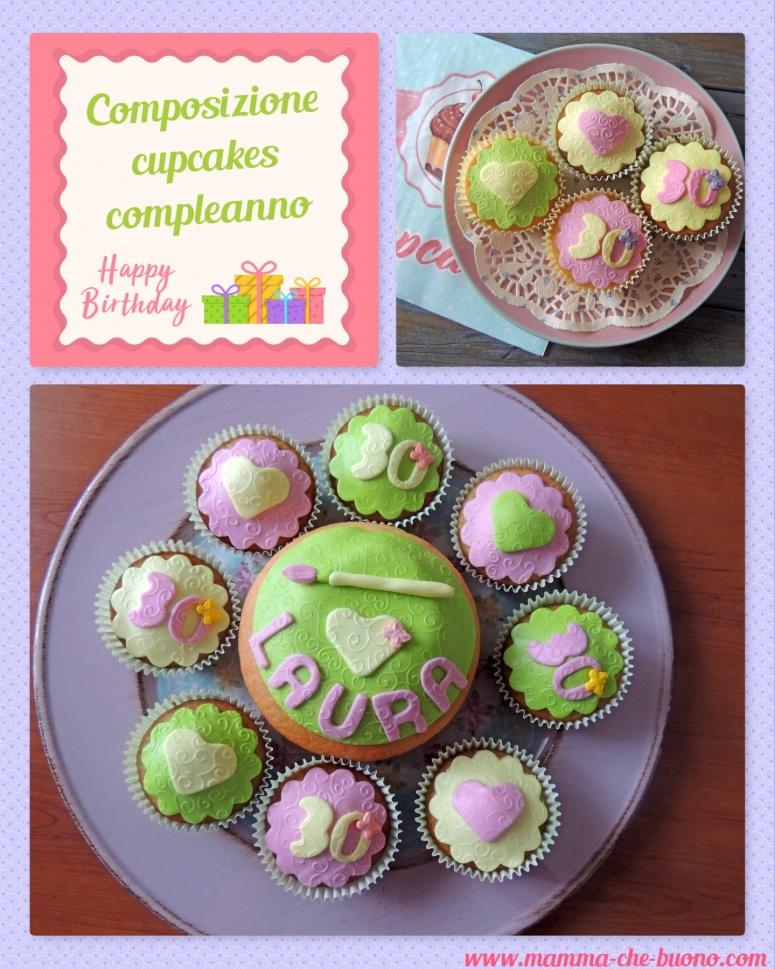 composizione cupcakes compleanno